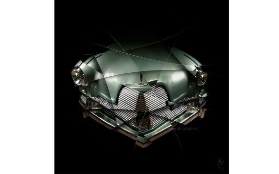 Aston Martin DB2 art photo car