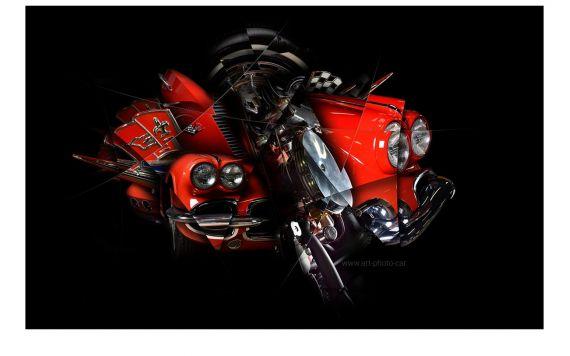 Corvette C1 art Photography