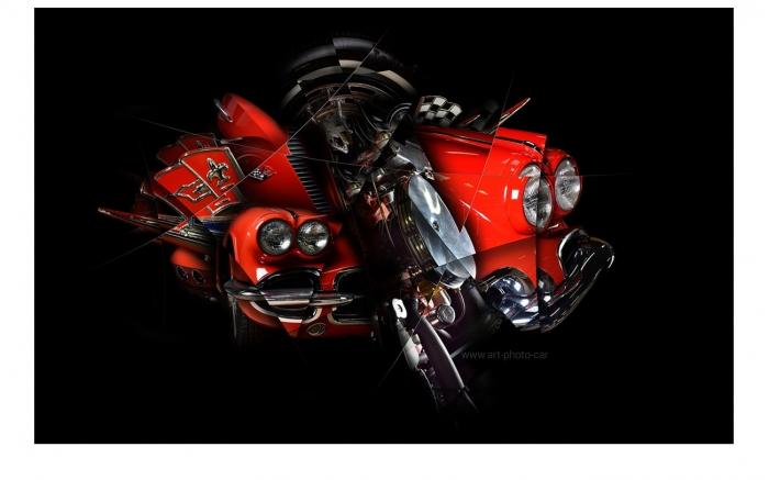 Corvette C1 photographie d'art auto