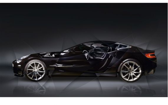Art photo Aston Martin 77 II