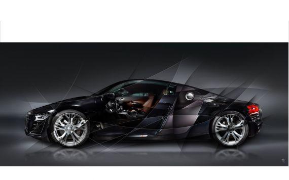 Audi R8 Art Photography signed