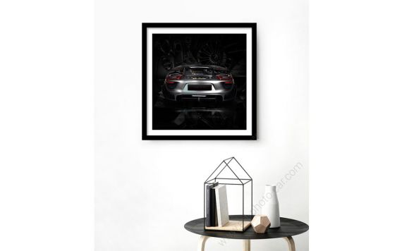 Fine Art Print Porsche 918 black edition back