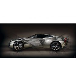 Art photo Aston Martin V12 Zagato II