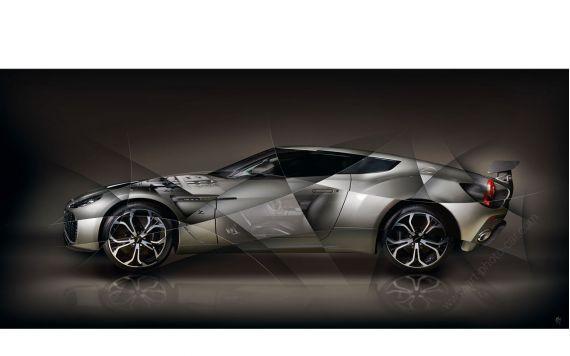 Photo d'art Aston Martin V12 Zagato