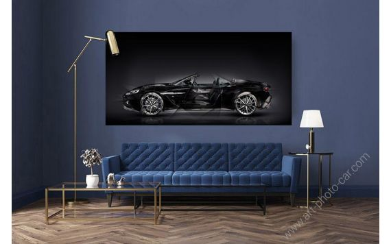 photo Aston Martin V12 Vanquish Zagato Volante Signed limited edition art by artist