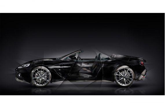 Photo d'art signée et limitée Aston Martin V12 Vanquish Zagato Volante