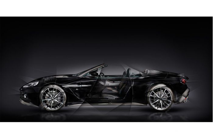photo Aston Martin V12 Vanquish Zagato Volante Signed limited edition fine art print by artist