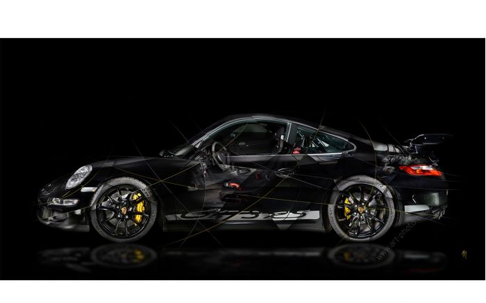 Porsche 911 997 GT3 Fine Art Print signed by artist and limited