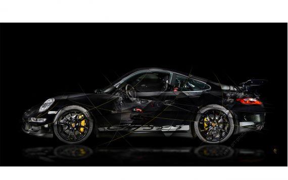 tableau Porsche 911 997 GT3 Photo d'art signée et limitée