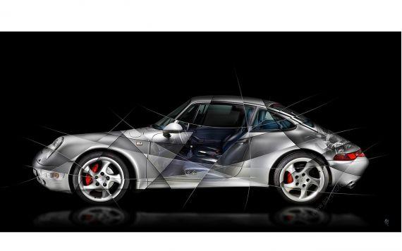 Porsche 911 997 GT3 Fine Art Print