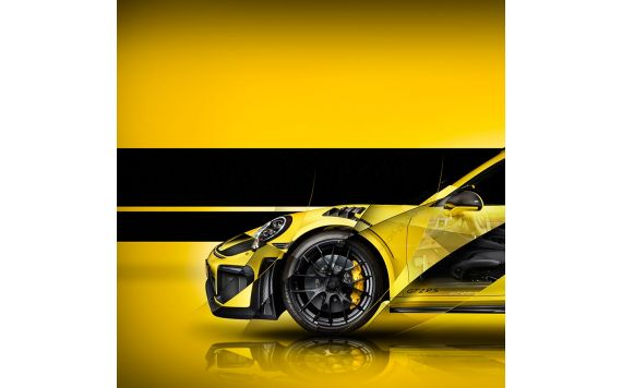 Porsche 911 GT2 RS Type 991 signed limited artwork