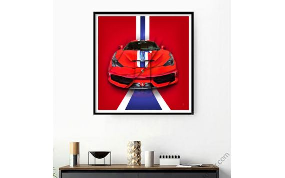 Art Photo painting Ferrari 458 Speciale