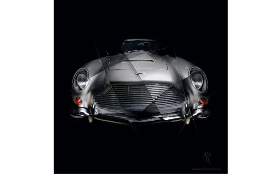 Photographie d'art Aston Martin DB5 signée et limitée