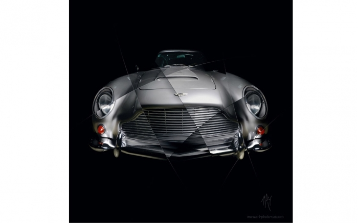 Art photography Aston Martin DB5 signed limited