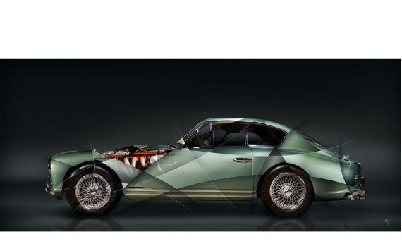 Aston Martin DB2 Art Photography