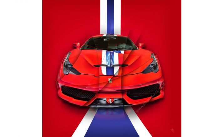 Art photography painting Ferrari 458 Speciale