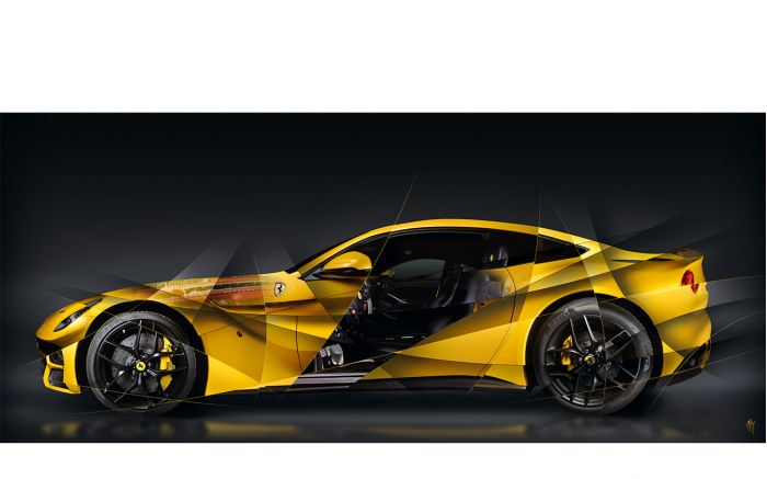 Ferrari F12 Art photography
