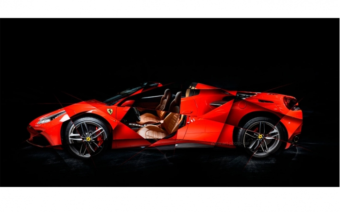 Ferrari 488 SPIDER Photo - Signed & Limited Photography