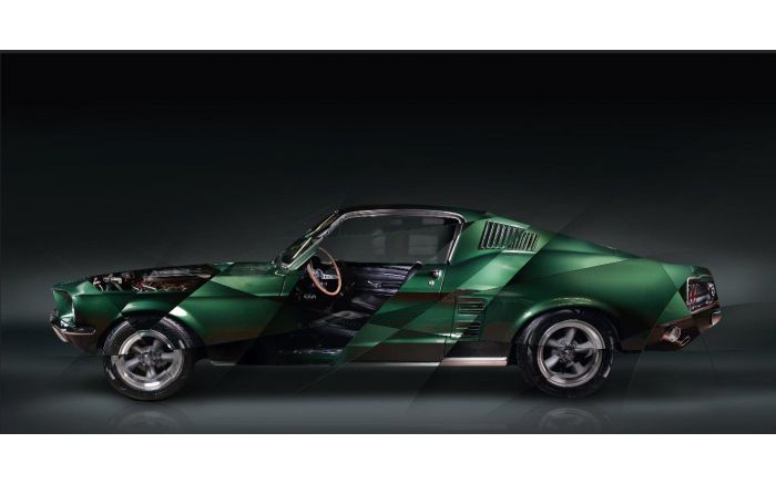 Art photography Ford Mustang Bullitt Edition