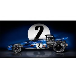 Art photography Formula One racing car Tyrell 003 Jackie Stewart