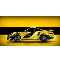 Photographie d'Art Porsche 911 GT2 RS type 991 Yellow edition