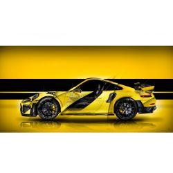 Art Photography Porsche 911 GT2 RS type 991 Yellow edition