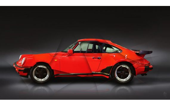 Photographie d'Art Porsche 911 type 930 Turbo 1988 II