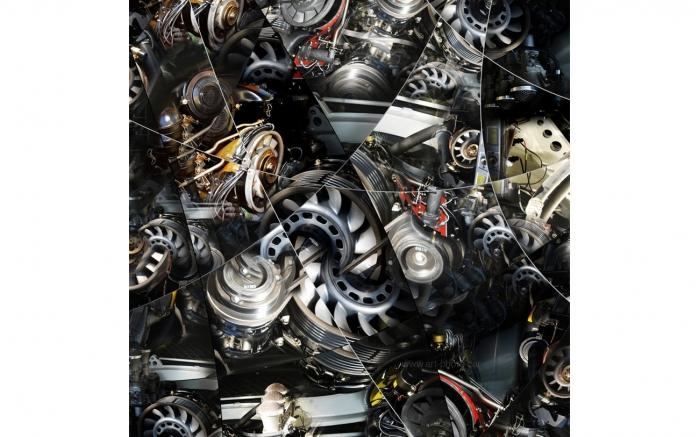 Porsche Motor, art photo of Porsche engine