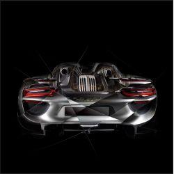 Tableau Porsche 918 back