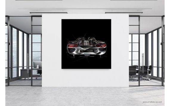 Tableau Porsche 918 back Photographie d'art