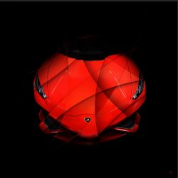 Photographie d'art Lamborghini Huracan rouge Face