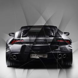 Photographie d'art Lamborghini Huracan grey back