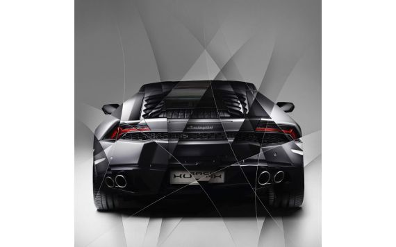 Photo d'art Lamborghini Huracan grey back
