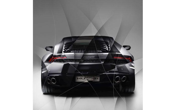 Art Photo Lamborghini Huracan grey back