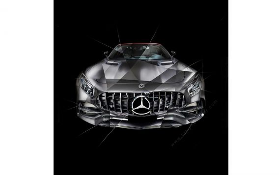 Art photography Mercedes AMG GT Edition 50