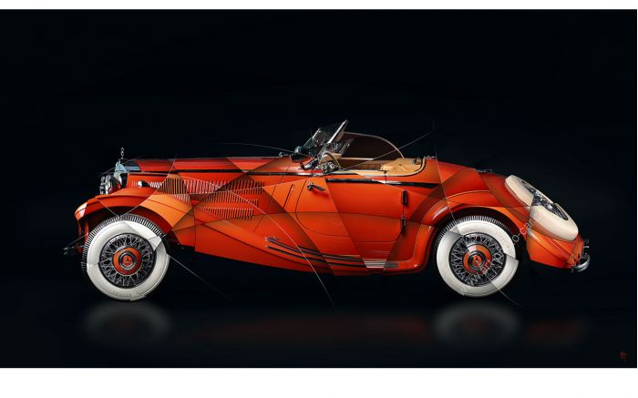 Photographie d'Art Mercedes 290 Roadster II