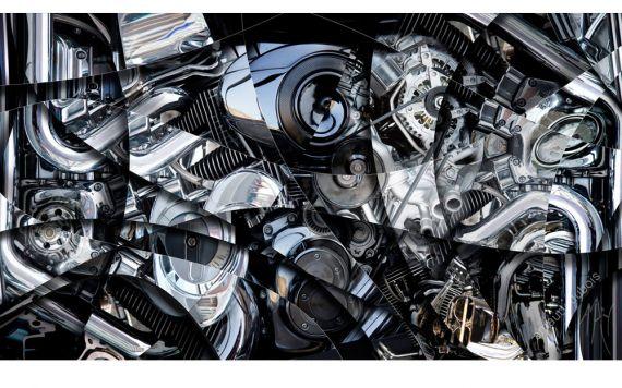 photo d'art mécanique, de moteur - Photographie signée & limitée