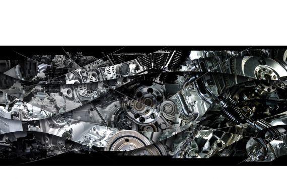 Photographie d'Art mécanique, de moteur - Photographie signée & limitée