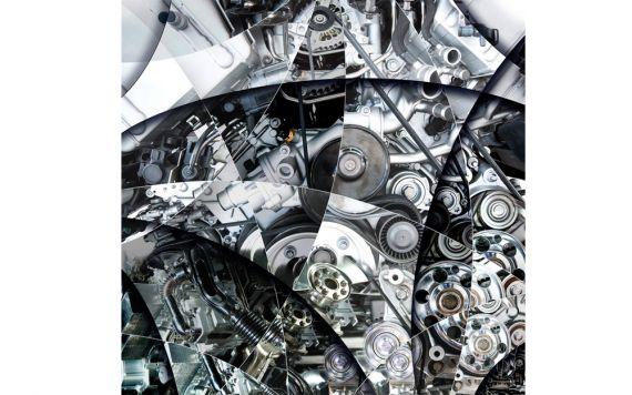 photographie d'art de moteur