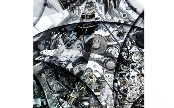 art photo of an engine