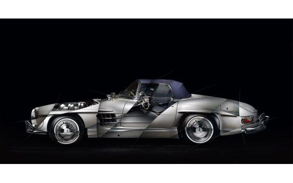 Mercedes 300 SL roadster Photo - Photographie signée & limitée