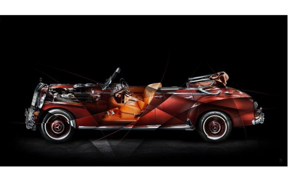 Mercedes 300 Adenauer Art Photo