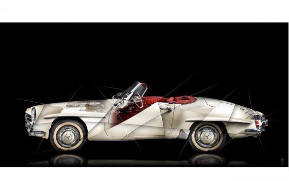 Photo d'art Mercedes 190 SL II