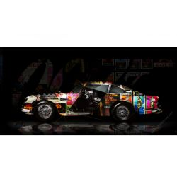 Tableau Aston Martin DB5 007 Pop Art