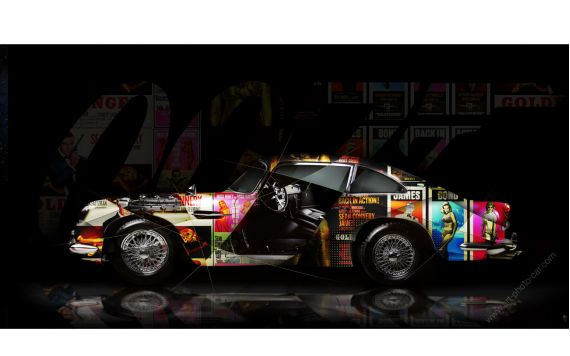 Art photography Aston Martin DB5 Pop Art - Signed and limited edition