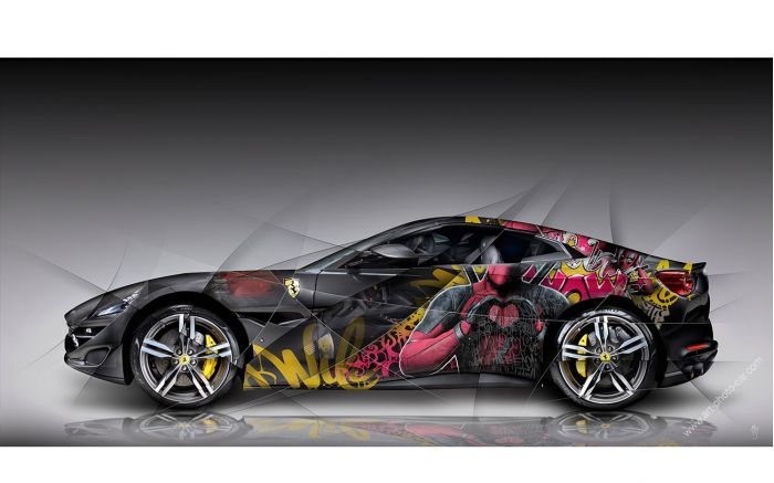 Art Photograpy Ferrari Portofino Pop Art - Signed and limited edition