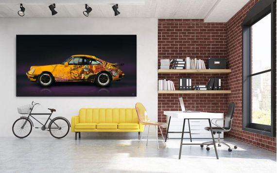 Photographie d'art Porsche 911 930 Pop Art - Edition signée & limitée