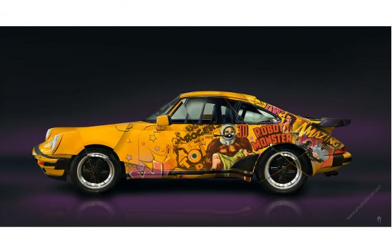 Art Photography Porsche 911 930 Pop Art - Signed & limited edition