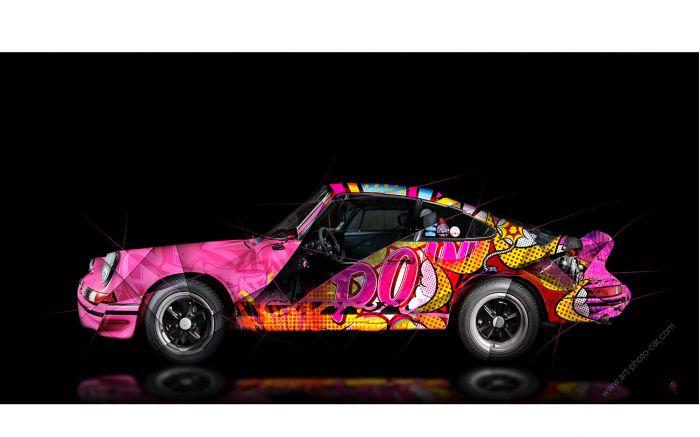 Photographie d'art Porsche 911 2.7 RS Pop Art - Edition signée & limitée