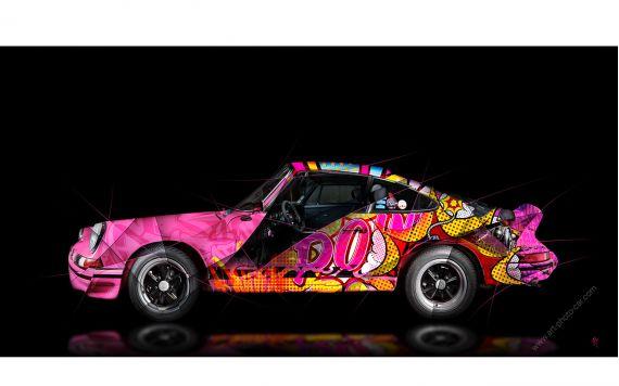 Art Photograpy Porsche 911 2.7 RS Pop Art - Signed & limited edition